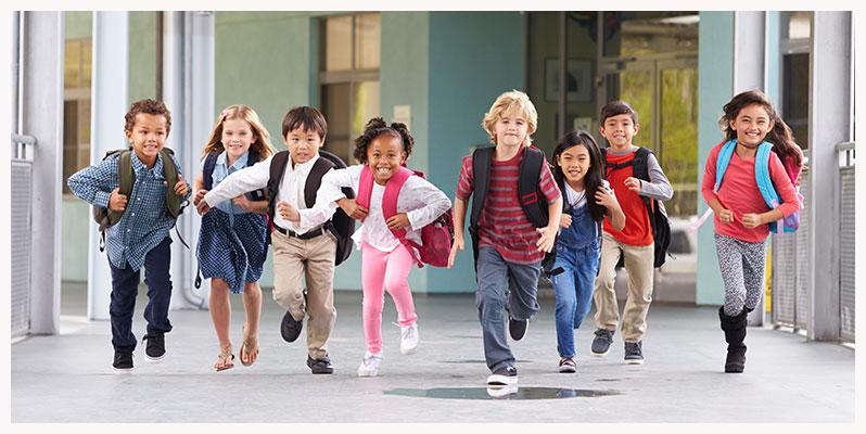 Schulen-Kinder-rennen